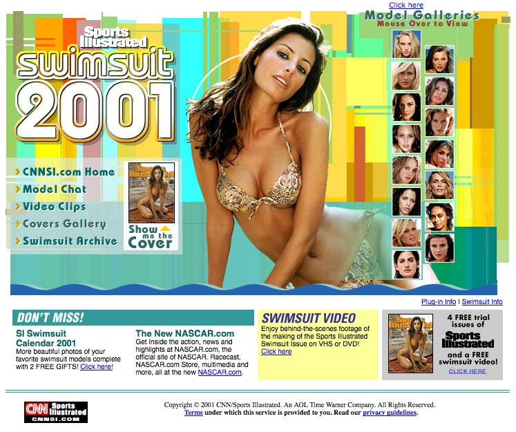 Sports Illustrated 2001 Swimsuit - Web Design